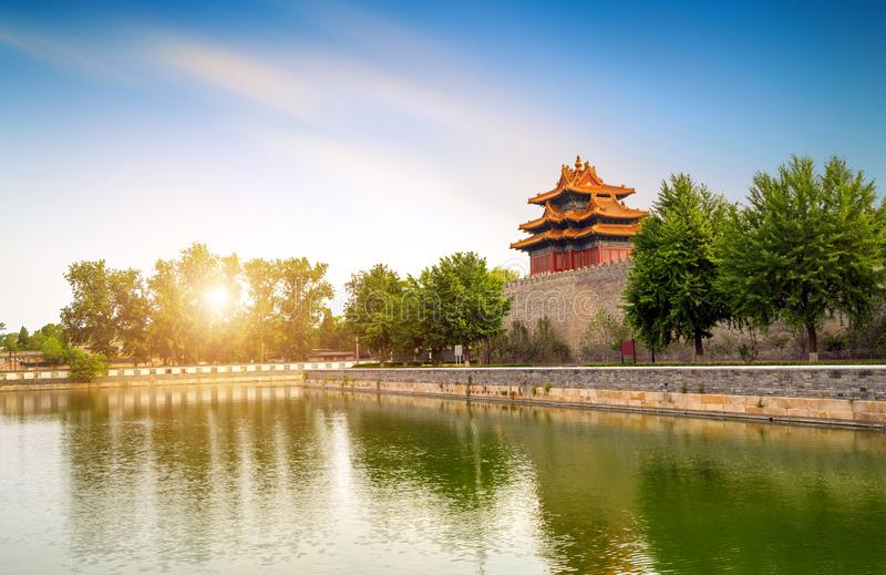The Forbidden City in Beijing, China stock photography