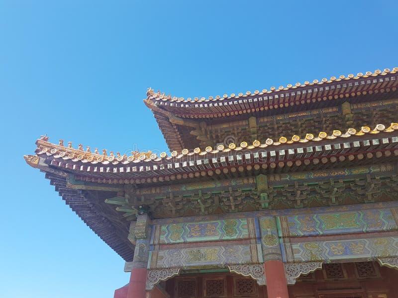 Details in Beijing`s Forbidden City stock photo