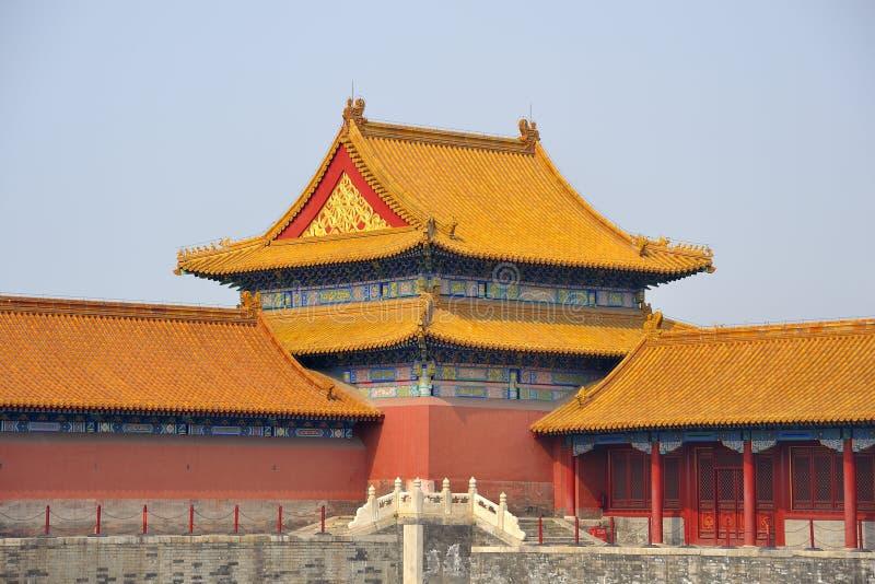 Forbidden City, Beijing. Roofs in Forbidden City, Beijing royalty free stock image