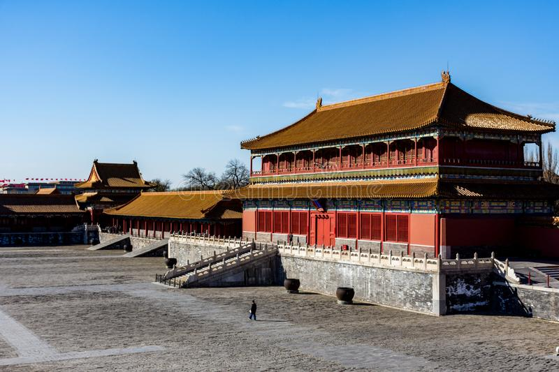 A corner of the Palace Museum. The Forbidden City in Beijing is the royal palace of the Ming and Qing Dynasties in China. It is called the Forbidden City. It is royalty free stock images