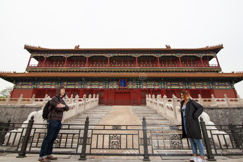 The forbidden city in China stock photography