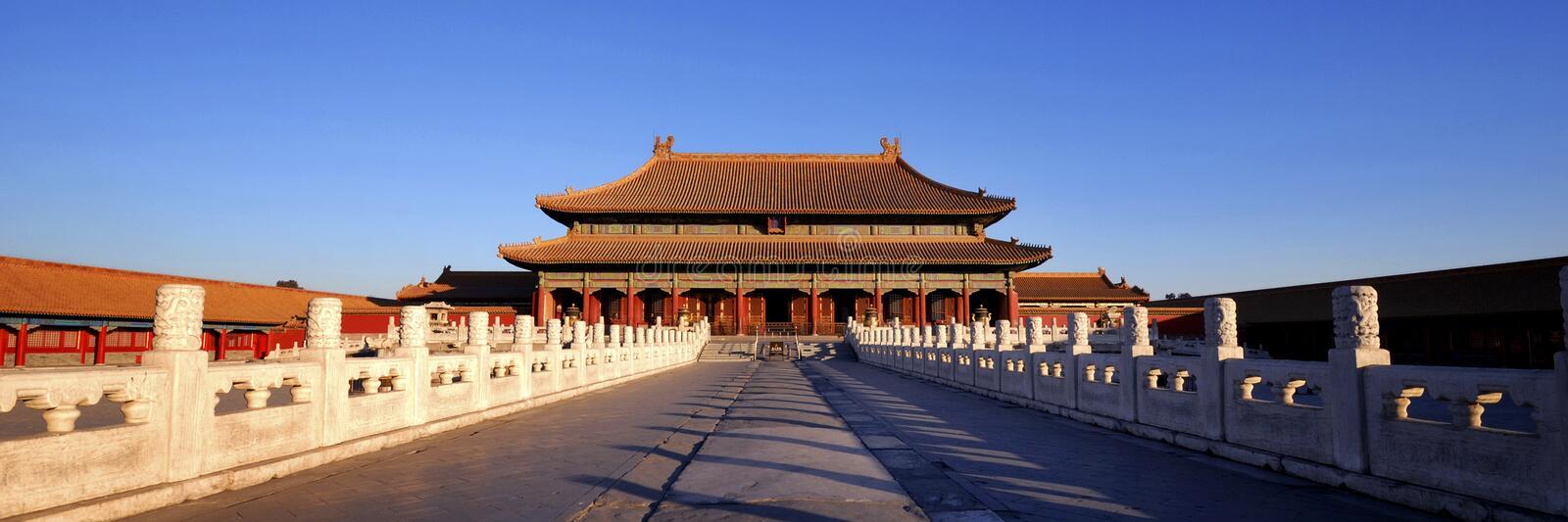 Forbidden City Chinese Culture Ancient Concept stock images