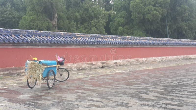 Forbidden City cykelsvep i Peking, Kina arkivbilder