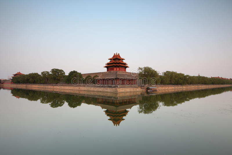 Forbidden City at dusk royalty free stock images