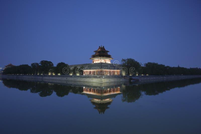 Forbidden City at dusk royalty free stock photography