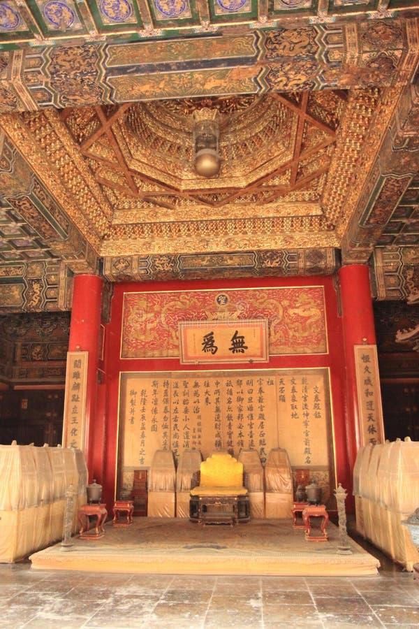 Forbidden City throne China stock photo