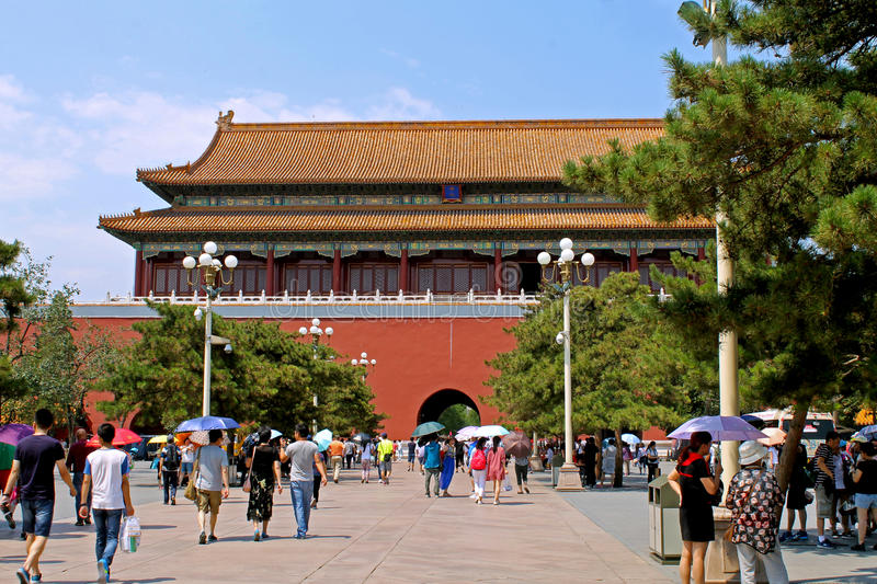 Forbidden city greatest architecture stock image