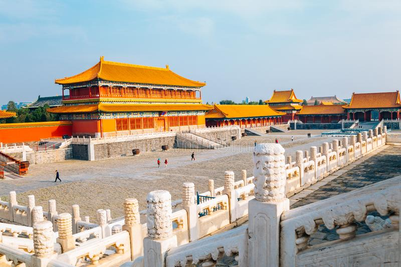 Forbidden City Historic architecture in Beijing, China stock photo