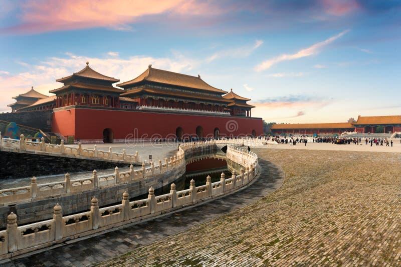 Forbidden City i beijing, porslin Forbidden City är en slottcom royaltyfri foto