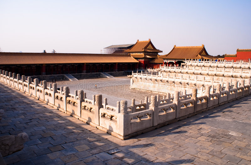 Download The Forbidden City Inside Square Stock Image - Image: 8104711