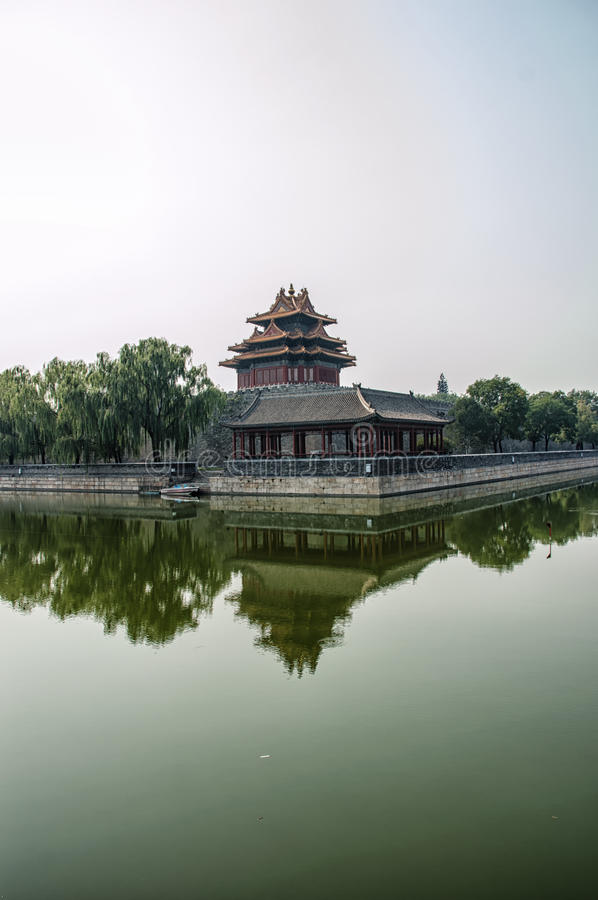 Forbidden City Moat stock photo