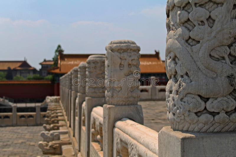 Forbidden city roof royalty free stock photo