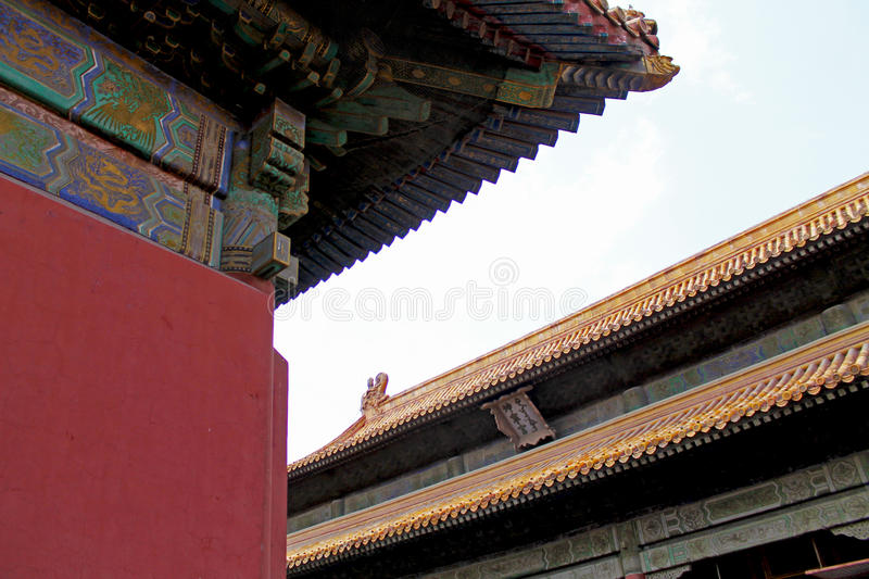 Forbidden city roof stock photography