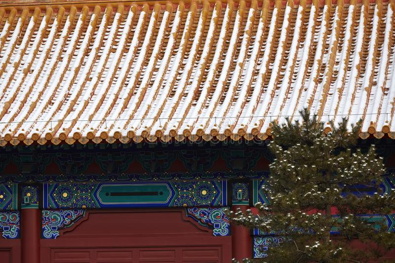 Forbidden City and snows, Beijing royalty free stock photography