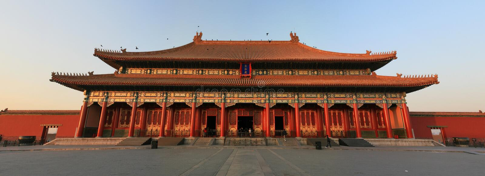 Download Forbidden City in sunset stock photo. Image of center - 9460664