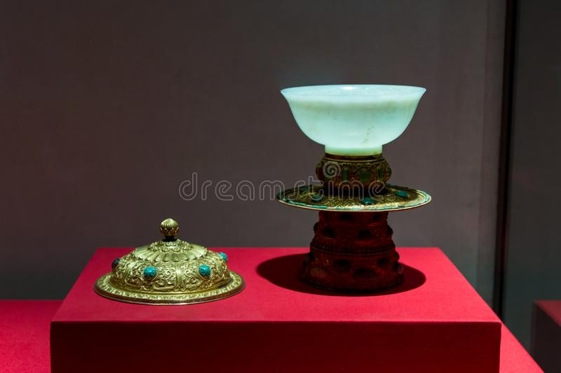 The Palace Museum Treasure Museum in Beijing stock image