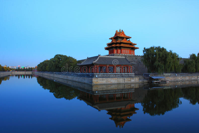 Forbidden city turret royalty free stock images