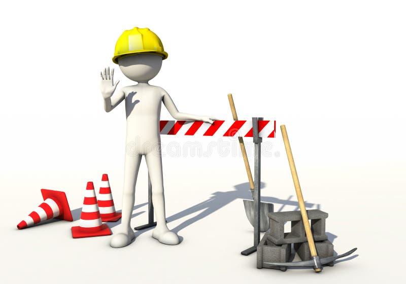 Forbidden construction site stock illustration