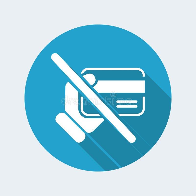 Forbidden credit card royalty free illustration