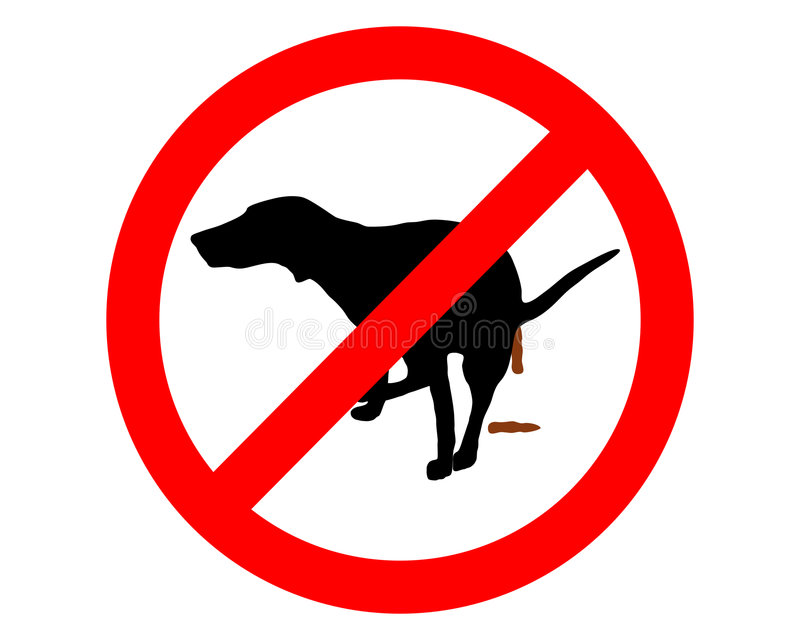 Download Forbidden for dogs stock vector. Image of hound, dump - 6333681