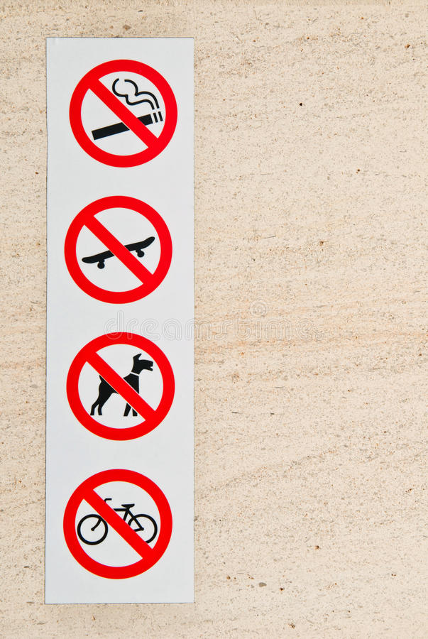 Download Forbidden signs stock photo. Image of background, icon - 27829532