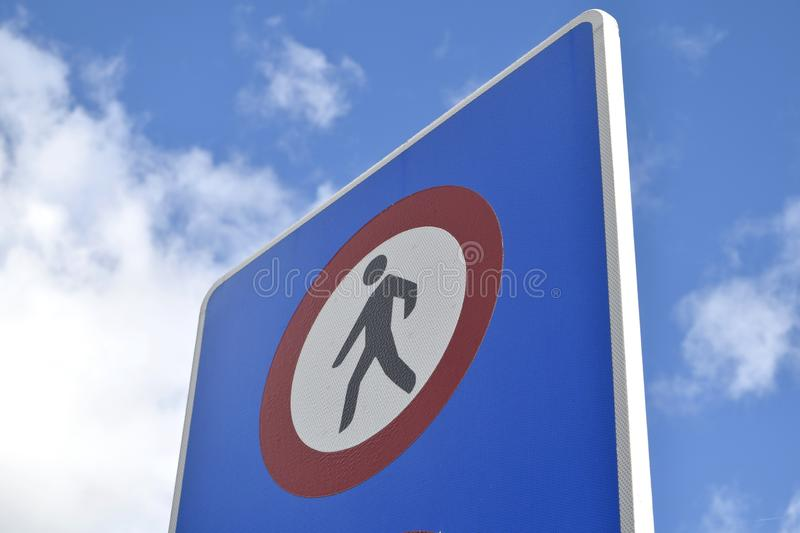 Forbidden step stock images