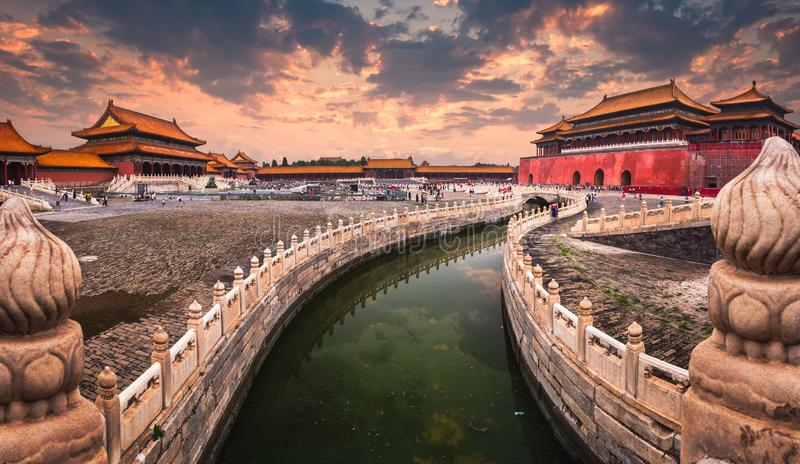 Forbiddenet City av Peking royaltyfri fotografi