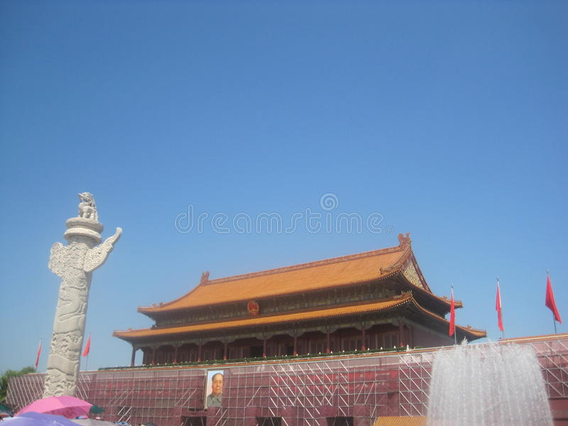 The forbiden city in china stock photos
