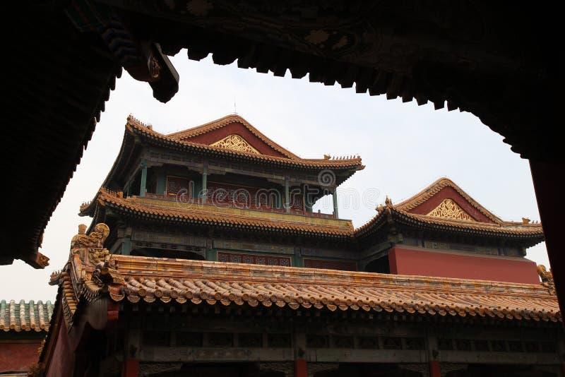 Forbitten-Stadt, Peking China lizenzfreie stockfotografie
