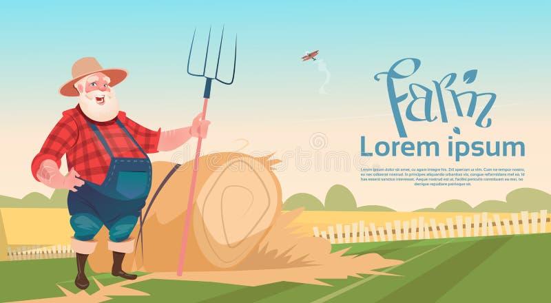 Download Forcado Hay Harvest Da Posse De Working On Farm Do Fazendeiro Ilustração do Vetor - Ilustração de ilustração, agronomy: 80101107