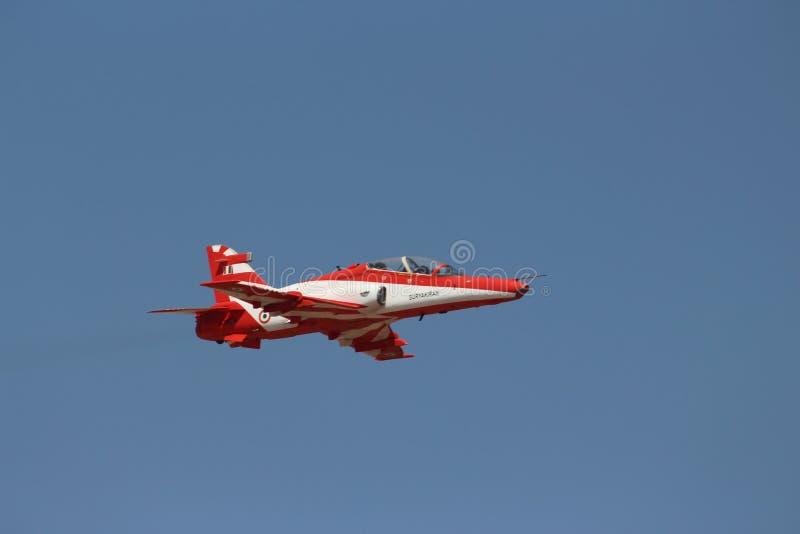 Force's indiani dell'aria acrobatici - Surya Kirans fotografia stock