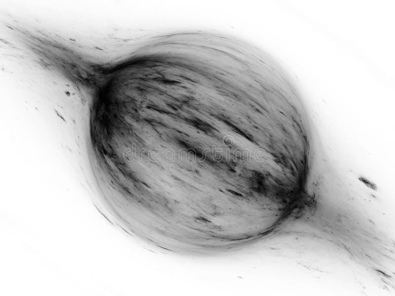 Force bipolaire dans l'effet invers? noir et blanc d'abr?g? sur l'espace illustration stock