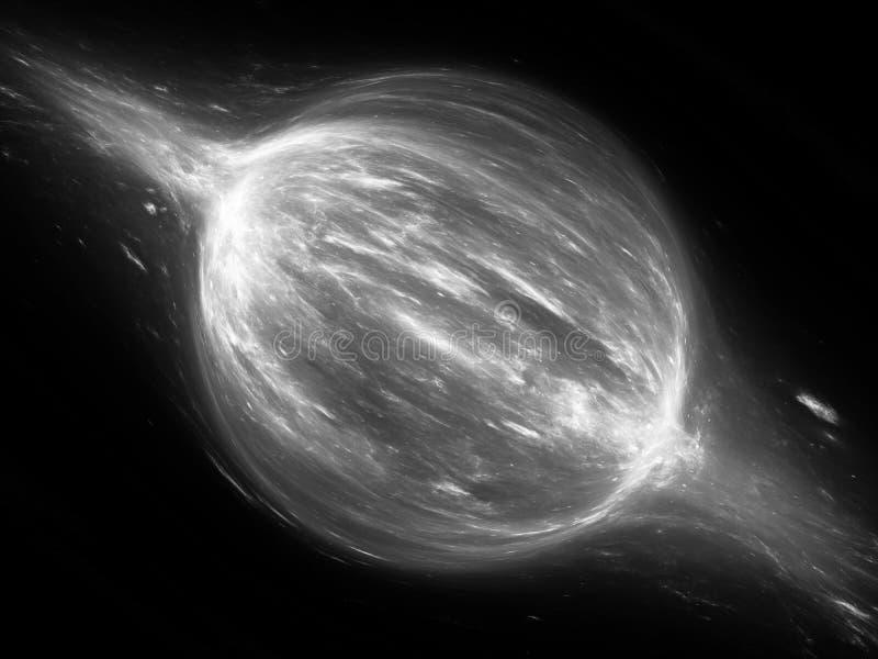 Force bipolaire dans l'effet noir et blanc d'abrégé sur l'espace illustration stock