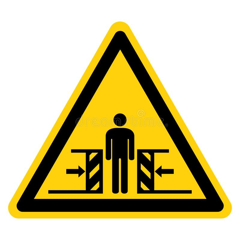 Force d'?crasement de corps d'isolat de signe de symbole de deux c?t?s sur le fond blanc, illustration de vecteur illustration de vecteur