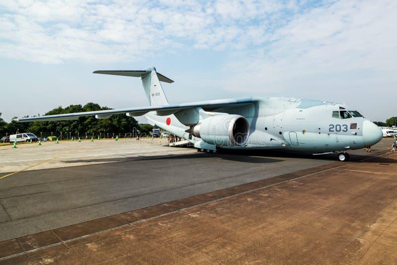 Force d'autodéfense aérienne du Japon Kawasaki C-2 68-1203 Affichage statique de l'avion de transport au RIAT Royal International photos libres de droits