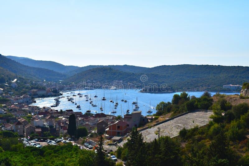 Force port-Croatie photographie stock