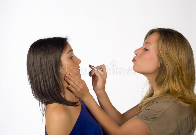 Forceful makeup stock photo
