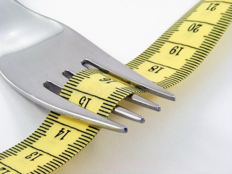 Forcella con nastro adesivo di misurazione fotografie stock