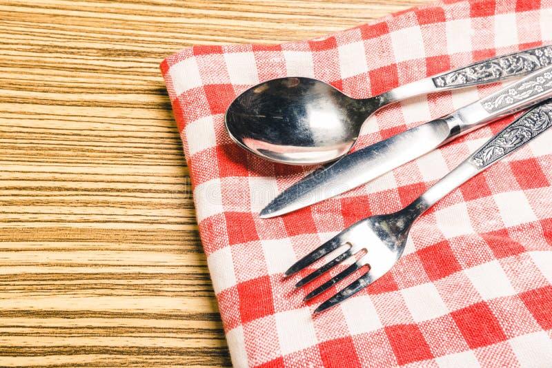 Forcella e coltello da tavola immagini stock libere da diritti