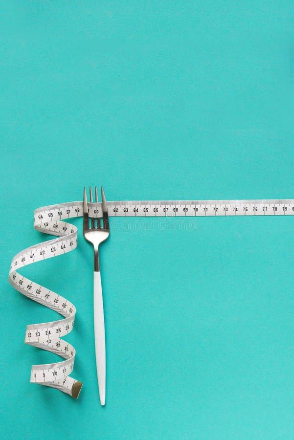 Forcella e nastro di misurazione immagine stock