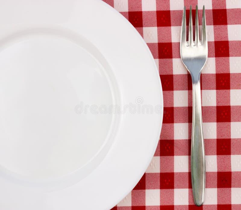 Forcella e piatto vuoto immagine stock libera da diritti