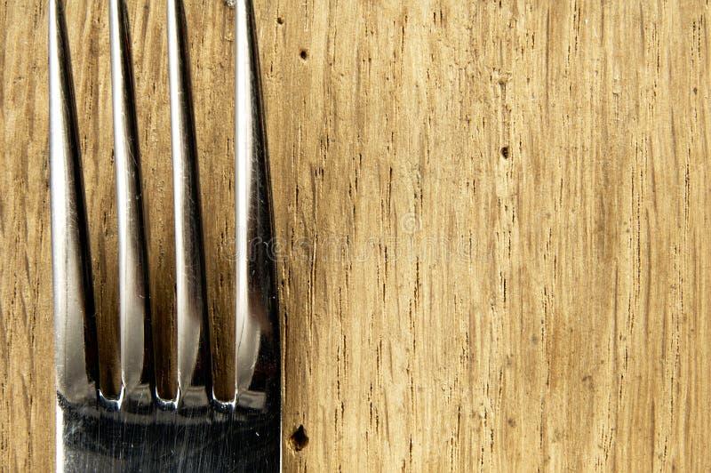 Forcella sul tavolo da cucina fotografie stock