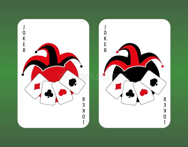 Forcelle reali dell'istantaneo del casinò delle schede di gioco joker illustrazione di stock