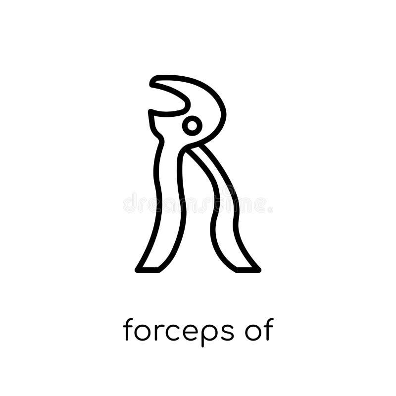 Forceps van het pictogram van tandartshulpmiddelen  stock illustratie