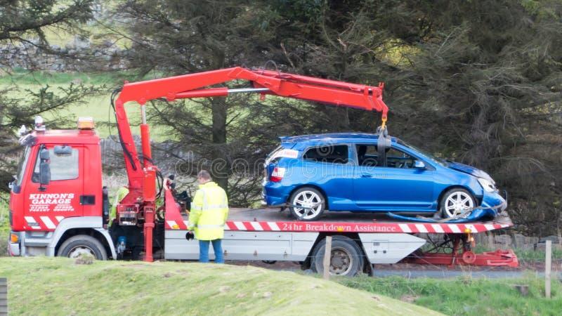 Forcerad återställning för bil royaltyfria foton