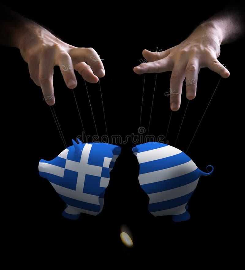 forcerad grekisk förlaga docka royaltyfria foton
