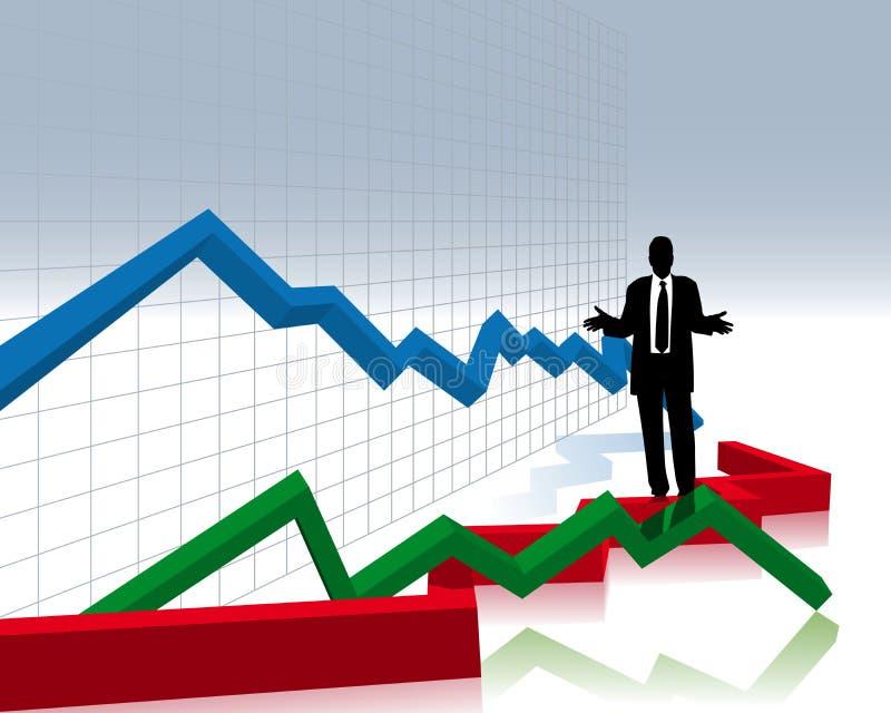 forcerat finansiellt stock illustrationer