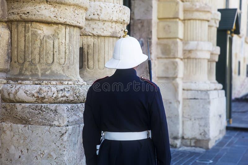 Forces armées des gardes de Malte au palais présidentiel à La Valette, Malte image libre de droits