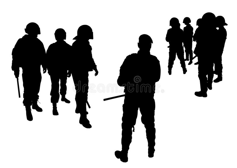 Forces de police spéciales illustration de vecteur