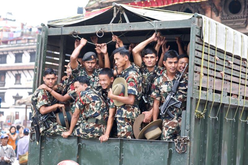 Forces spéciales du Népal militaires photos stock